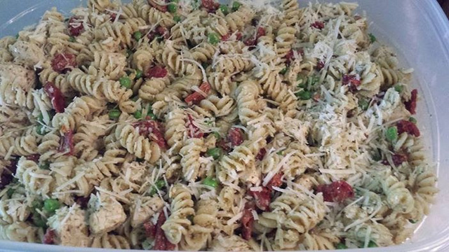 Award Winning Chicken Pesto Pasta Salad