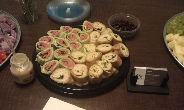Roast Beef& Turkey Pesto Pinwheel Platter